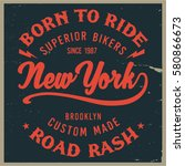 vintage biker graphics and... | Shutterstock .eps vector #580866673