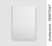realistic white book blank...   Shutterstock .eps vector #580875367