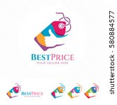 price tag logo design with... | Shutterstock .eps vector #580884577