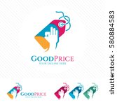 price tag logo design with...   Shutterstock .eps vector #580884583