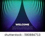 drapery futuristic background...   Shutterstock .eps vector #580886713