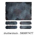 set of damaged  rusted metal...