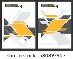 a template for the cover of the ... | Shutterstock .eps vector #580897957