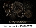 firework show on night sky... | Shutterstock .eps vector #580903777