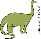mono line style illustration of ... | Shutterstock .eps vector #580927597