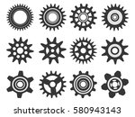 gear icon set. vector... | Shutterstock .eps vector #580943143