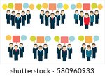 business teams   people icons... | Shutterstock .eps vector #580960933