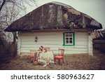 The Old Wooden House In The...