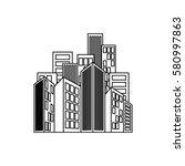 city buildings symbol icon... | Shutterstock .eps vector #580997863