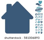 house pictograph with bonus... | Shutterstock .eps vector #581006893