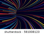 abstract line vector background | Shutterstock .eps vector #581008123