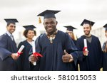 education  graduation  gesture... | Shutterstock . vector #581015053