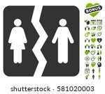 divorce pictograph with bonus... | Shutterstock .eps vector #581020003