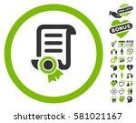 certified scroll document... | Shutterstock .eps vector #581021167