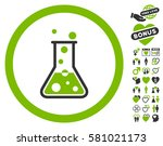 boiling liquid flask icon with... | Shutterstock .eps vector #581021173