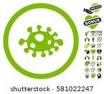 bacteria icon with bonus... | Shutterstock .eps vector #581022247