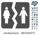 divorce icon with bonus... | Shutterstock .eps vector #581034577