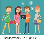 question from learn computer.... | Shutterstock .eps vector #581044513