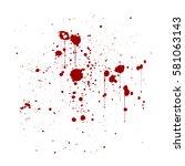 red ink splatter background ...   Shutterstock .eps vector #581063143