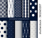 vector abstract pattern navy... | Shutterstock .eps vector #581065207