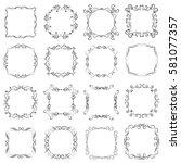 vector set of calligraphic... | Shutterstock .eps vector #581077357