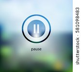 pause icon. isolated on...
