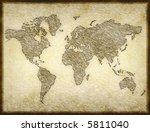 old world map sketched onto... | Shutterstock . vector #5811040