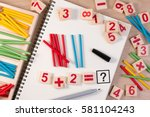 educational kids math toy...   Shutterstock . vector #581104243