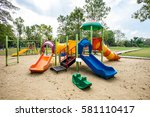 play ground colorful big... | Shutterstock . vector #581110417