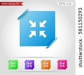 arrows icon. button with arrows ... | Shutterstock .eps vector #581150293