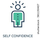 self confidence vector icon  | Shutterstock .eps vector #581150407