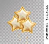 gold star balloon   Shutterstock .eps vector #581160337