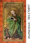 Small photo of ZAGREB, CROATIA - FEBRUARY 17: St. Martha, the altarpiece from the parish church of St. Vitus in Vrbovec, exhibited in Museum of Arts and Crafts in Zagreb, on February 17, 2015.