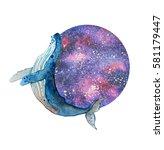 watercolor dream illustration... | Shutterstock . vector #581179447