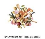 potatoes | Shutterstock . vector #581181883