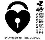 love heart lock icon with bonus ... | Shutterstock .eps vector #581208427