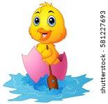 vector illustration of cute... | Shutterstock .eps vector #581227693