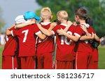 children soccer team. children... | Shutterstock . vector #581236717