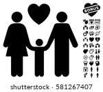 family love pictograph with... | Shutterstock .eps vector #581267407