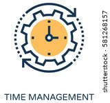 time management vector icon  | Shutterstock .eps vector #581268157