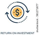 return on investment vector... | Shutterstock .eps vector #581271877
