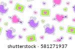 seamless pattern of cute...   Shutterstock .eps vector #581271937