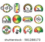 measuring guage device vector... | Shutterstock .eps vector #581288173