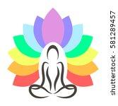Yoga. Lotus Position. Vector...