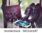 women's wear daily   fashion... | Shutterstock . vector #581316187