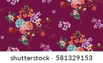 seamless floral pattern in... | Shutterstock .eps vector #581329153
