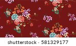 seamless floral pattern in... | Shutterstock .eps vector #581329177