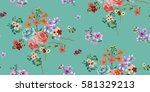 seamless floral pattern in... | Shutterstock .eps vector #581329213