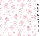 cute seamless pattern with... | Shutterstock .eps vector #581330917