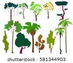 vector illustration. set of... | Shutterstock .eps vector #581344903